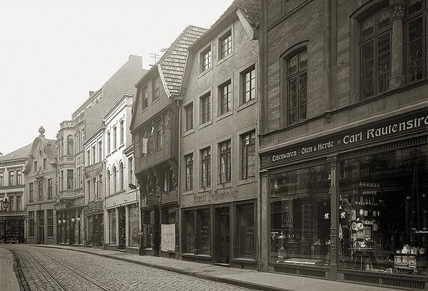 Die Große Straße um 1900
