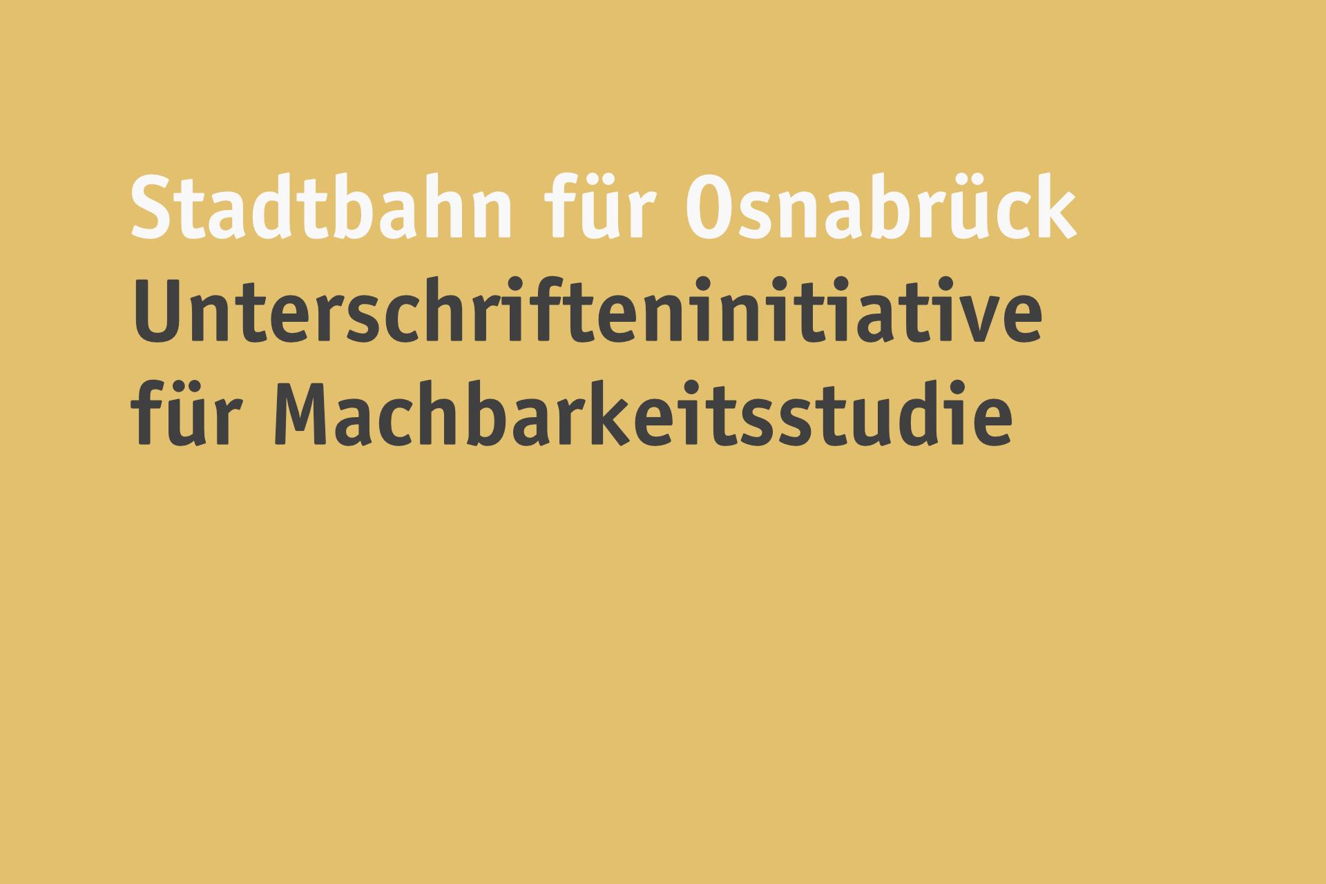 Stadtbahn für Osnabrück